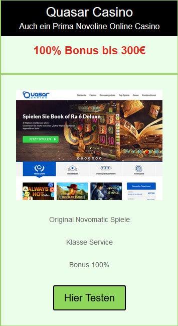Quasar Novoline Online Casino